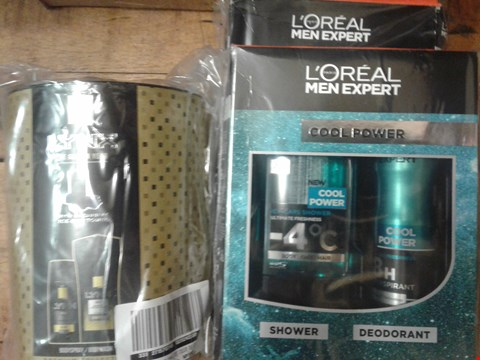 Lot 2407 3 COSMETIC ITEMSTO INCLUDE LOREAK MEN EXPERTS AND A LYNX GOLD DUO GYM TOWEL  RRP £57