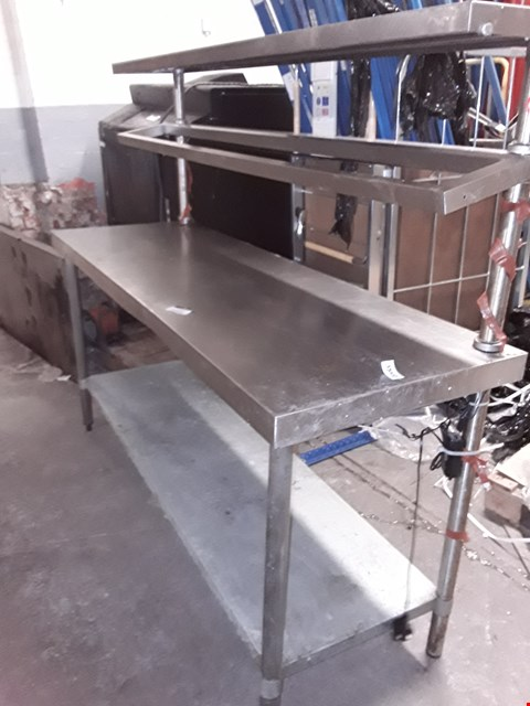 Lot 180001 STAINLESS STEEL PREP STATION WITH LIGHTS