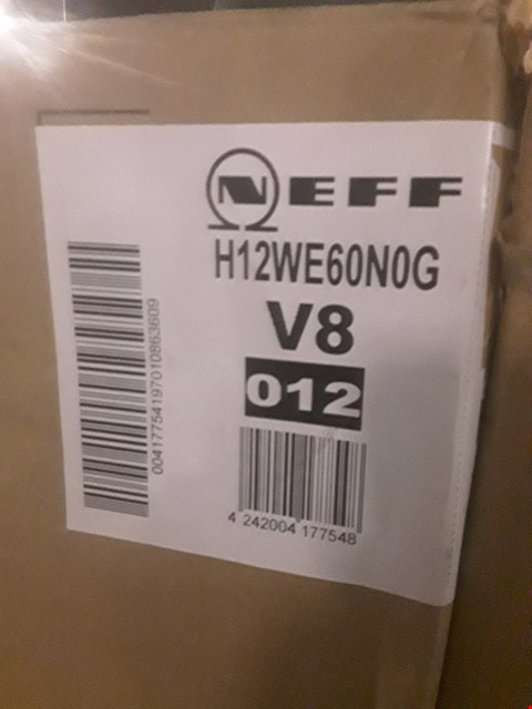 Lot 21A BOXED NEFF H12WE60N0G INTEGRATED MICROWAVE  RRP £360