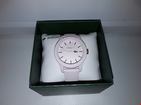 Lot 2139 LACOSTE 1212 PINK DIAL WRISTWATCH  RRP £99.00