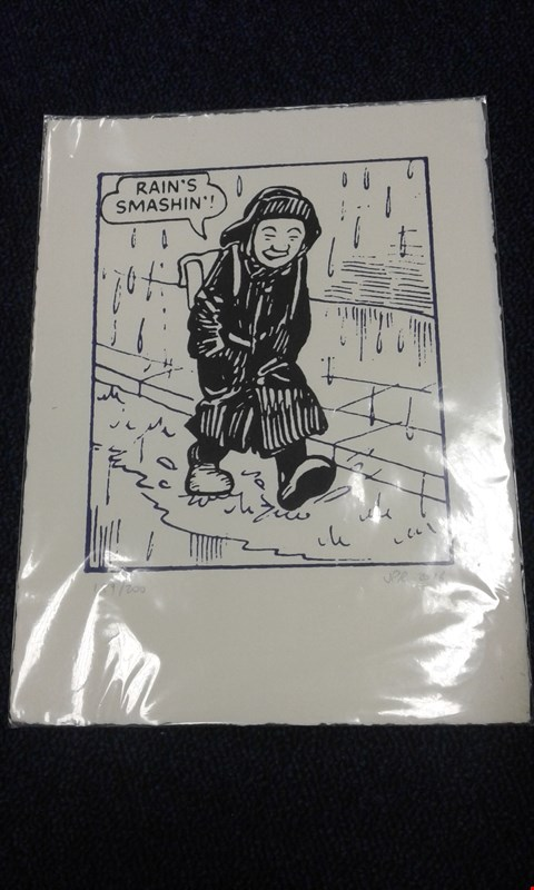 Lot 8238 JOHN PATRION REYNOLDS 'RAINS SMASHIN' PRINT NUMBERED 189/200