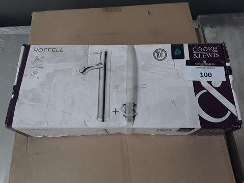 Lot 100 BOXED COOKE & LEWIS HOFFELL 1 LEVER BASIN MIXER TAP RRP £70