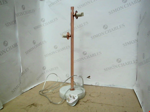 Lot 13662 MARBLE TABLE LAMP - BRUSHED COPPER