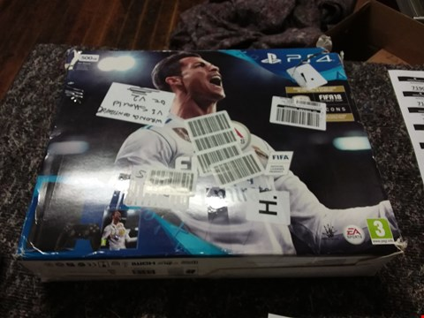 Lot 7177 500GB PS4CONSOLE WITH FIFA 18 GAME RRP £450