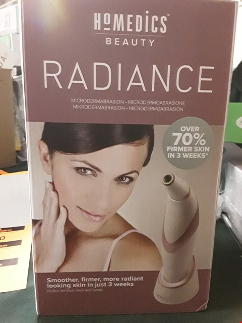 Lot 8759 BOXED HOMEDICS RADIANCE MICRODERMABRASION RRP £300.00