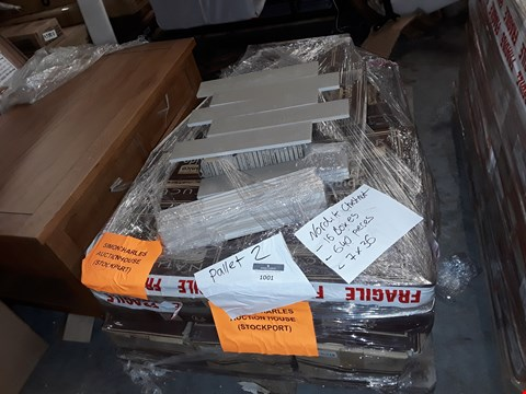 Lot 1001 PALLET OF 16 BOXES OF NORDIK CHESTNUT TILES 7X36CM (APPROXIMATELY 640 TILES TOTAL)