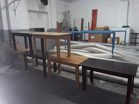 Lot 12 APPROXIMATELY 6 RECTANGULAR WOODEN TABLES