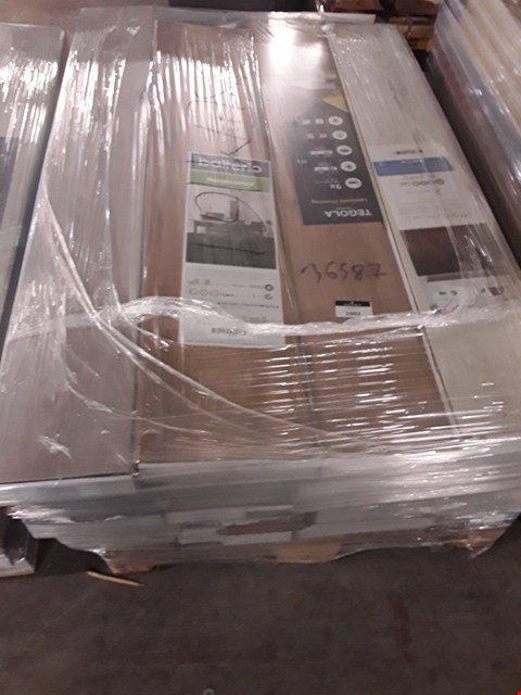 Lot 596 PALLET OF APPROXIMATELY 20 PACKS OF ASSORTED LAMINATE FLOORING