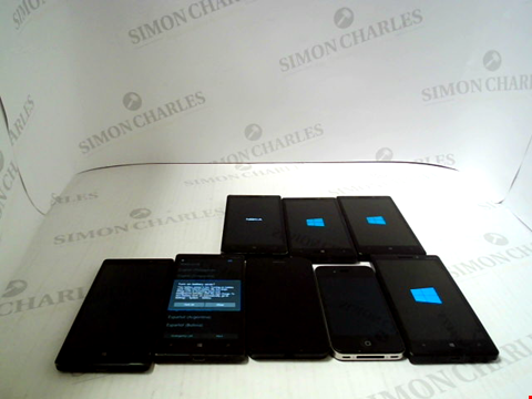 Lot 3382 LOT OF 8 ASSORTED SMARTPHONES; VARIOUS MAKES AND GRADES
