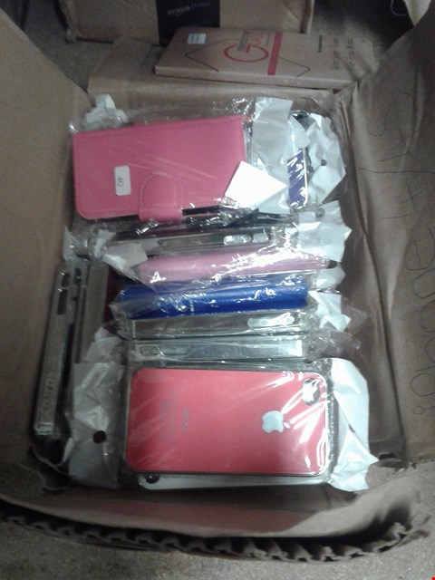 Lot 365 2 BOXES OF ASSORTED MOBILE PHONE CASES FOR IPHONE 4/4S