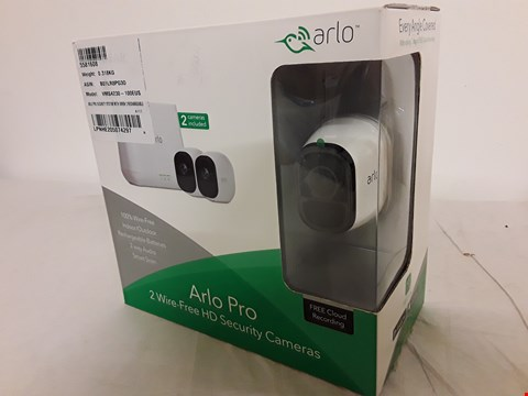 Lot 3 BOXED ARLO PRO 2× WIRE FREE HD SECURITY CAMERAS