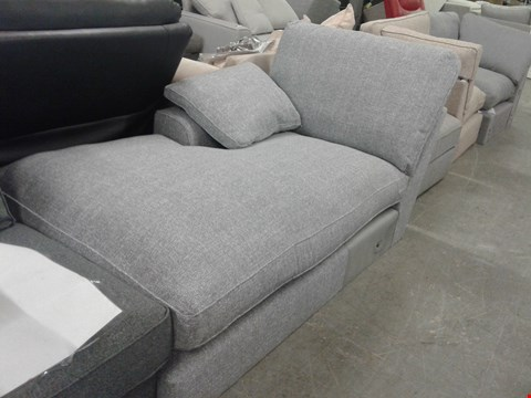 Lot 57 QUALITY BRITISH DESIGNER GREY FABRIC CHAISE SECTION