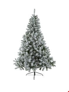 Lot 164 BOXED 6FT FROSTED TIPS XMAS TREE 6FT