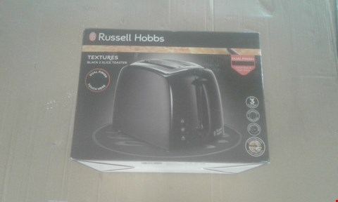 Lot 2125 RUSSELL HOBBS TEXTURES 2 SLICE TOASTER - BLACK