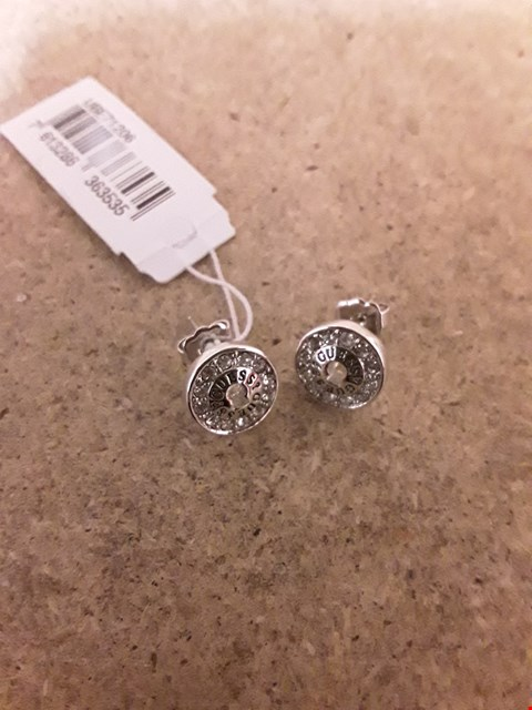 Lot 2255 Guess Crystal Detail Earrings RRP £37