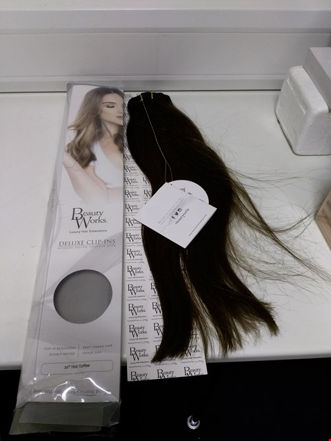 "Lot 2079 BEAUTY WORKS DELUXE CLIP-IN EXTENSIONS 20"" CHOCOLATE #46 RRP £180.00"