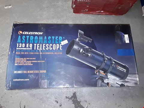 Lot 4501 CELESTRON 31045 ASTROMASTER 130EQ REFLECTOR TELESCOPE