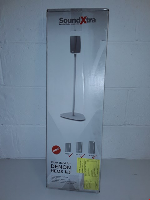 Lot 52 BOXED SOUNDXTRA FLOOR STAND FOR DENON HEOS 1&3 - WHITE