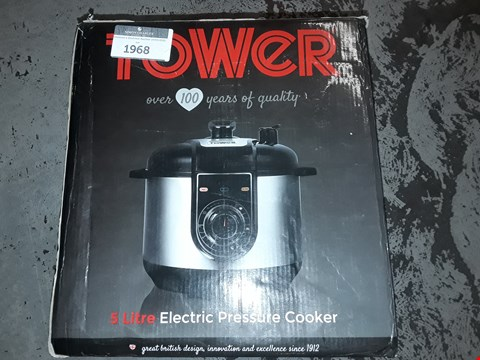 Lot 1968 TOWER 5L ELECTRIC PRESSURE COOKER