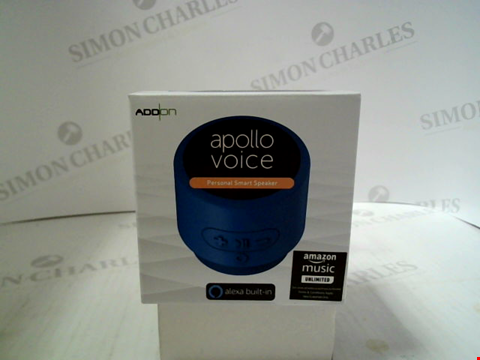 Lot 332 BRAND NEW ADD ON APOLLO VOICE PERSONAL SMART SPEAKER WITH ALEXA BUILT IN