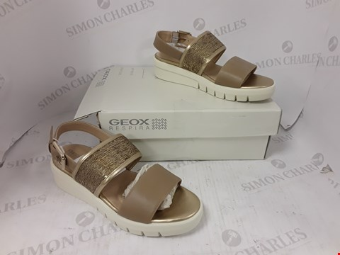 Lot 892 BOXED PAIR OF GEOX RESPIRA WEDGE SANDALS SIZE 39
