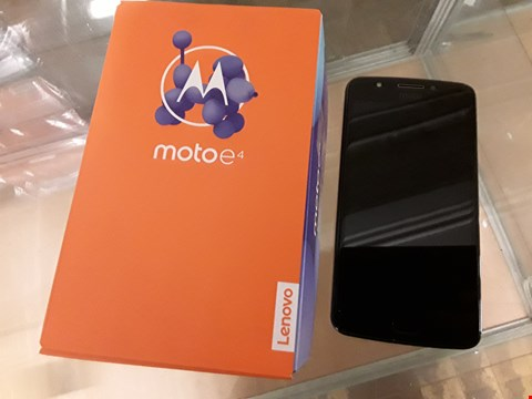 Lot 192 BOXED MOTO E4 GREY MOBILE PHONE