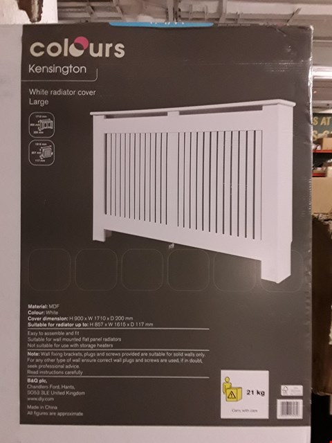 Lot 3183 COLOURS KENSINGTON LARGE WHITE RADIATOR COVER H900 X W1710 X D200 MM