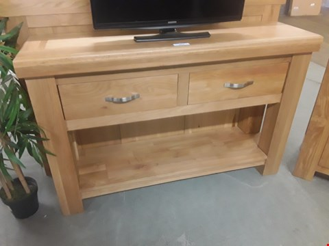 Lot 646 QUALITY MADE OCEAN SOLID OAK AND OAK-VENEER CONSOLE TABLE  RRP £959.99