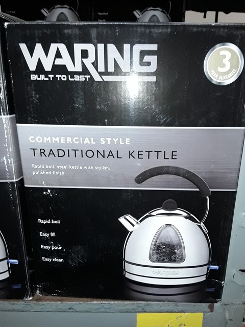 Lot 9704 BOXED WARING BUILT TO LAST COMMERCIAL TRADITION KETTLE