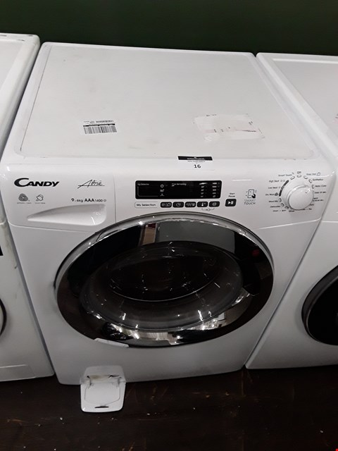 Lot 16 CANDY GVSW496DC 9KG WASH, 6KG DRY, 1400 SPIN WASHER DRYER WITH SMART TOUCH - WHITE/CHROME RRP £479.00