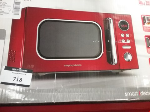 Lot 718 MORPHY RICHARDS MICROWAVE ACCENTS COLOUR COLLECTION, 23L DIGITAL SOLO RED