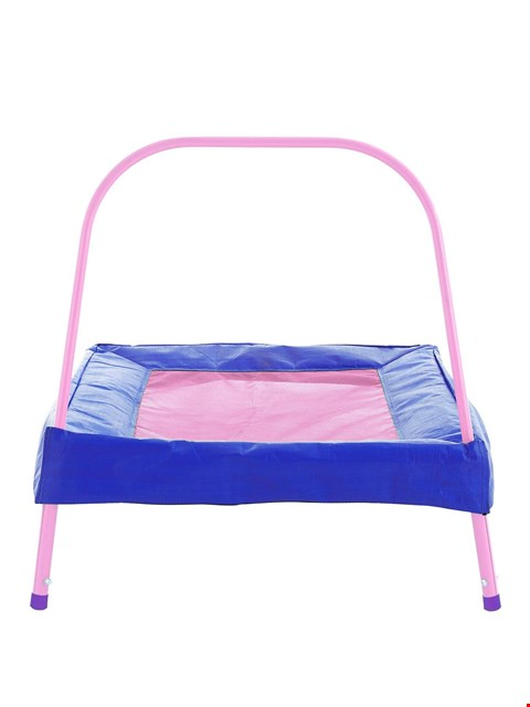 Lot 4950 BOXED SPORTSPOWER JUNIOR PINK TRAMPOLINE (1 BOX) RRP £46.00