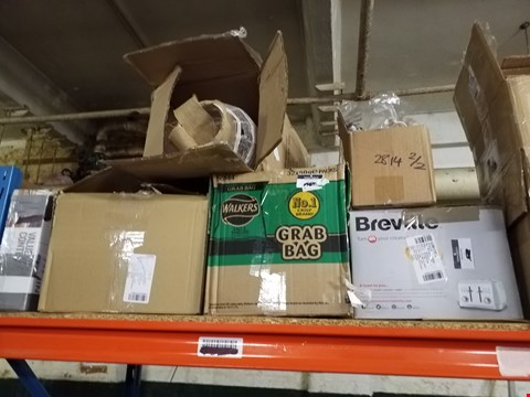 Lot 618 SHELF OF APPROXIMATELY 14 ASSORTED ITEMS TO INCLUDE BREVILLE 4 SLICE TOASTER, MORPHY RICHARDS SOUP MAKER AND MORPHY RICHARDS JUG KETTLE ECT