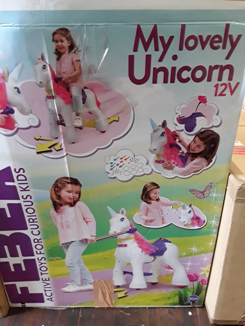 Lot 11182 FEBER MY LOVELY UNICORN 12V RRP £290
