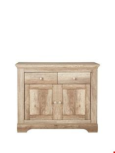 Lot 5062 BRAND NEW BOXED WILTSHIRE RUSTIC OAK-EFFECT COMPACT SIDEBOARD (1 BOX) RRP £249.99