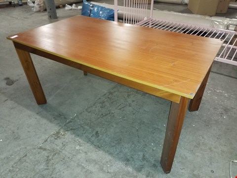 Lot 22 LARGE WOOD EFFECT DINING TABLE