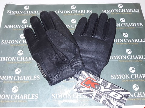 Lot 4081 KYB MOTORCYCLE GLOVES - SIZE SMALL