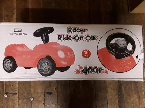 Lot 1593 RACER RIDE-ON CAR  RRP £30.99