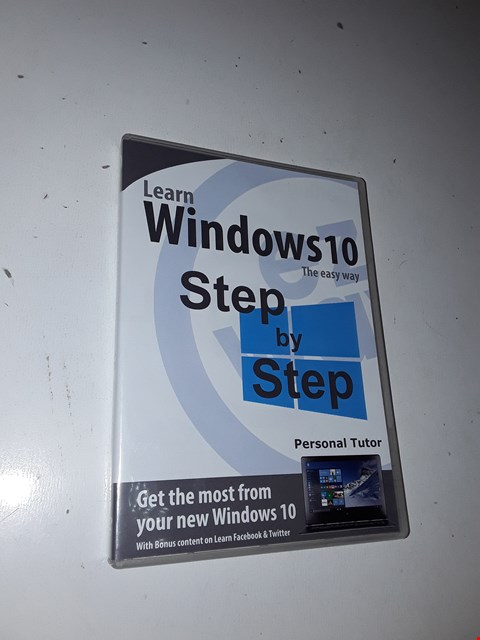 Lot 1054 LOT OF APPROXIMATELY 25 EZ WAY LEARN WINDOWS 10 DVDS
