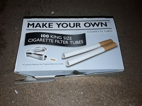 Lot 8104 BOX OF APPROXIMATELY 8 ASSORTED MAKE YOUR OWN CIGARETTE TUBE PACKS