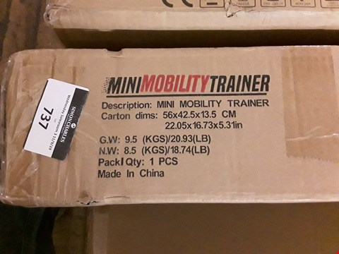 Lot 737 BOXED MINI MOBILITY TRAINER