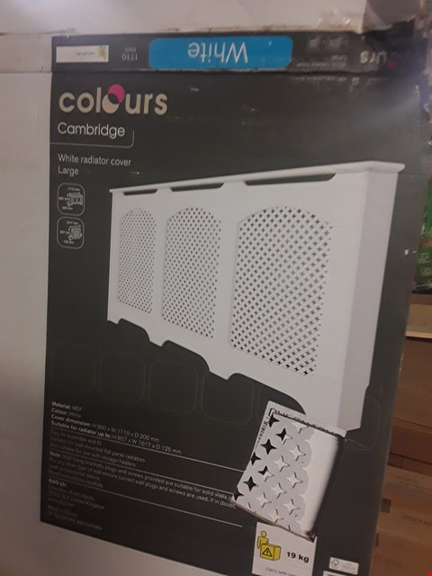 Lot 3115 BOXED COLOURS CAMBRIDGE LARGE WHITE RADIATOR COVER