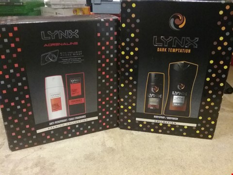 Lot 7056 LOT OF 2 ITEMS TO INCLUDE LYNX ADRENALINE PREMIUM COLLECTION AND LYNX DARK TEMPTATION BODYWASH