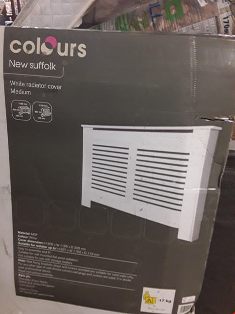 Lot 3118 BOXED COLOURS SUFFOLK WHITE MEDIUM RADIATOR COVER