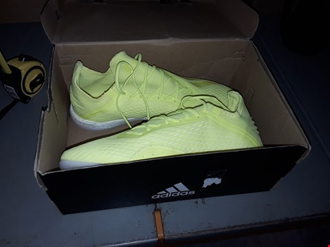 Lot 7002 PAIR OF ADIDAS FLUORESCENT YELLOW TRAINERS SIZE 8 1/2