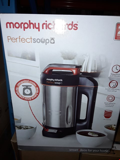 Lot 2077 MORPHY RICHARDS PERFECT SOUP MAKER