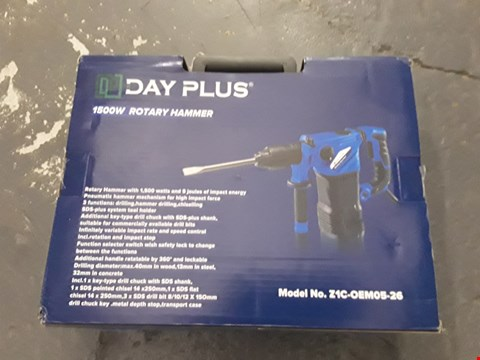 Lot 59 DAY PLUS 1500W ROTARY HAMMER