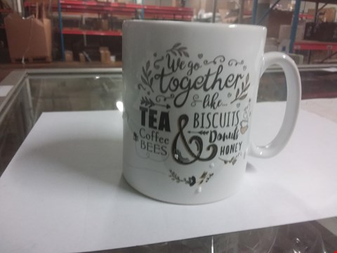 Lot 88 PERSONALISED WE GO TOGETHER LIKE.... MUG RRP £13.00
