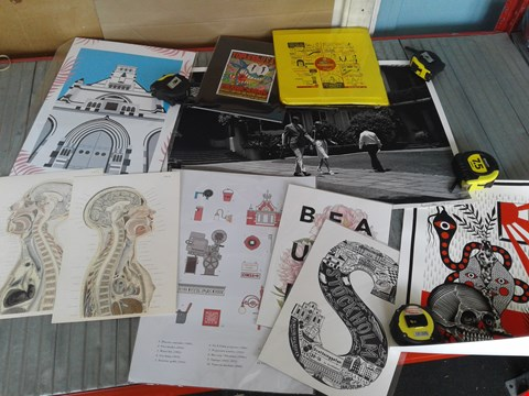 Lot 31 TEN ASSORTED ART PRINTS, INCLUDING LIMITED EDITION SIGNED PHOTO PRINT AND ANATOMICAL DIAGRAMS