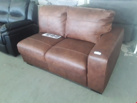 Lot 20 DESIGNER BROWN LEATHER SOFA SECTION